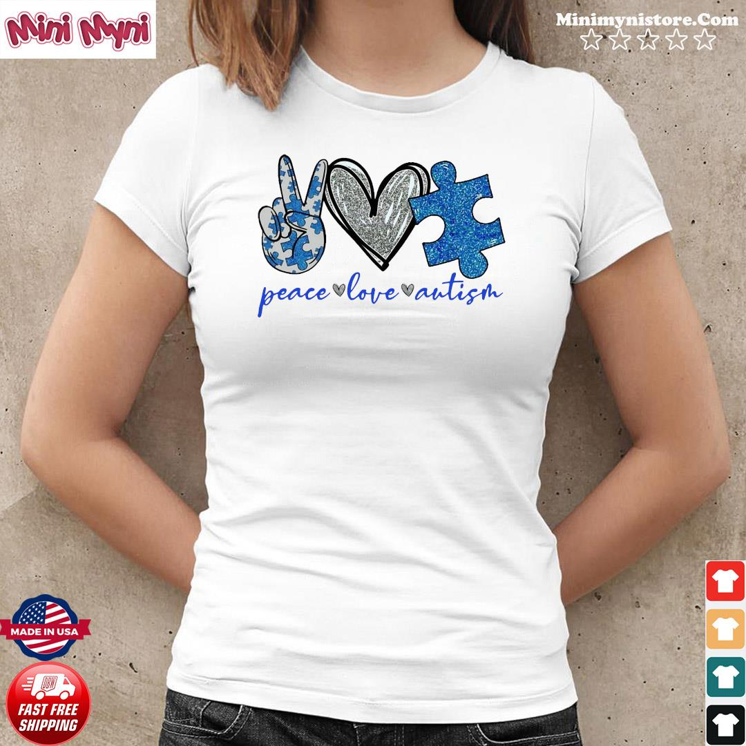 Official Peace Love Autism Shirt