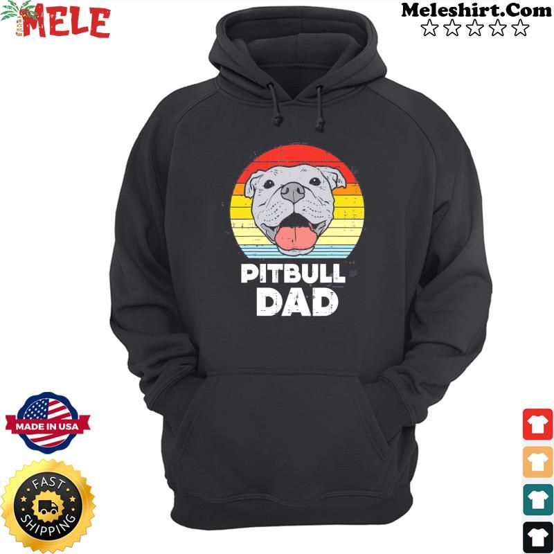 Pitbull Dad Vintage Retro Classic Shirt Hoodie