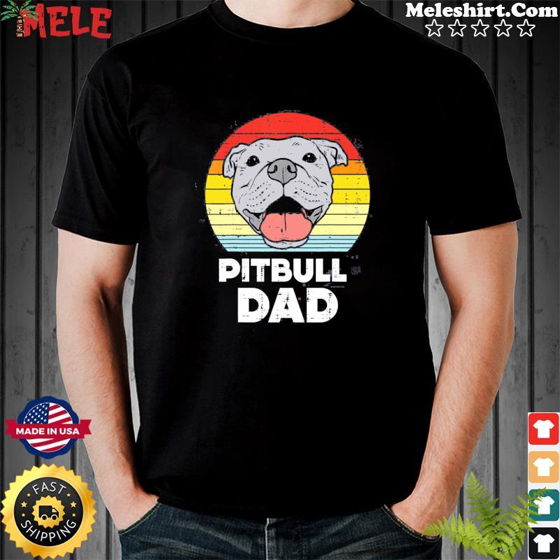 Pitbull Dad Vintage Retro Classic Shirt