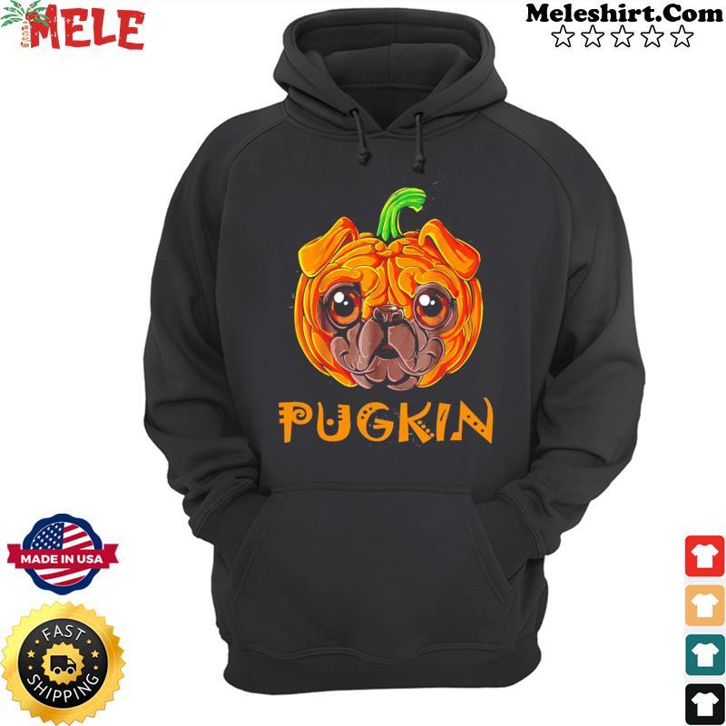 Pugkin Pug Pumpkin Halloween T-Shirt Hoodie