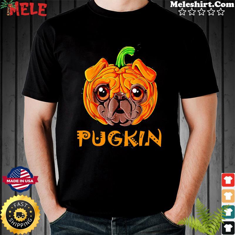 Pugkin Pug Pumpkin Halloween T-Shirt