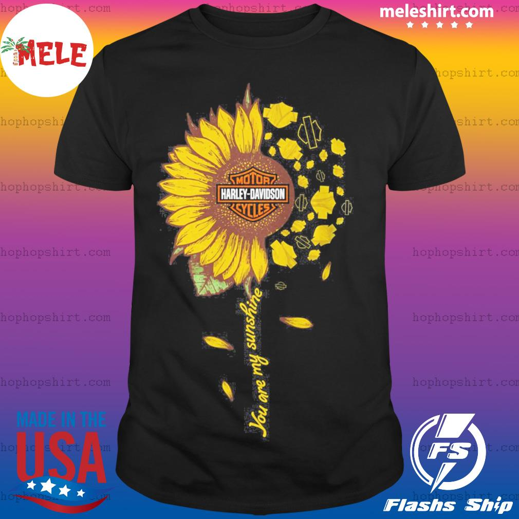 Moto harley davidson cycles sunflower you are my sunshine shirt