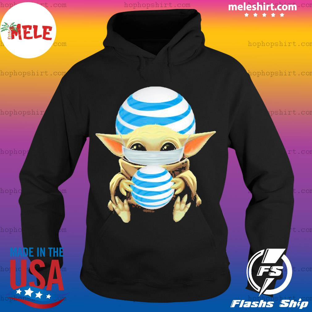 Baby yoda face mask hug AT&T I can't stay at home s Hoodie