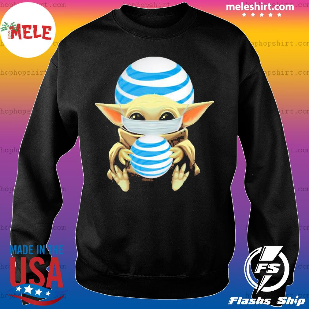 Baby yoda face mask hug AT&T I can't stay at home s Sweater