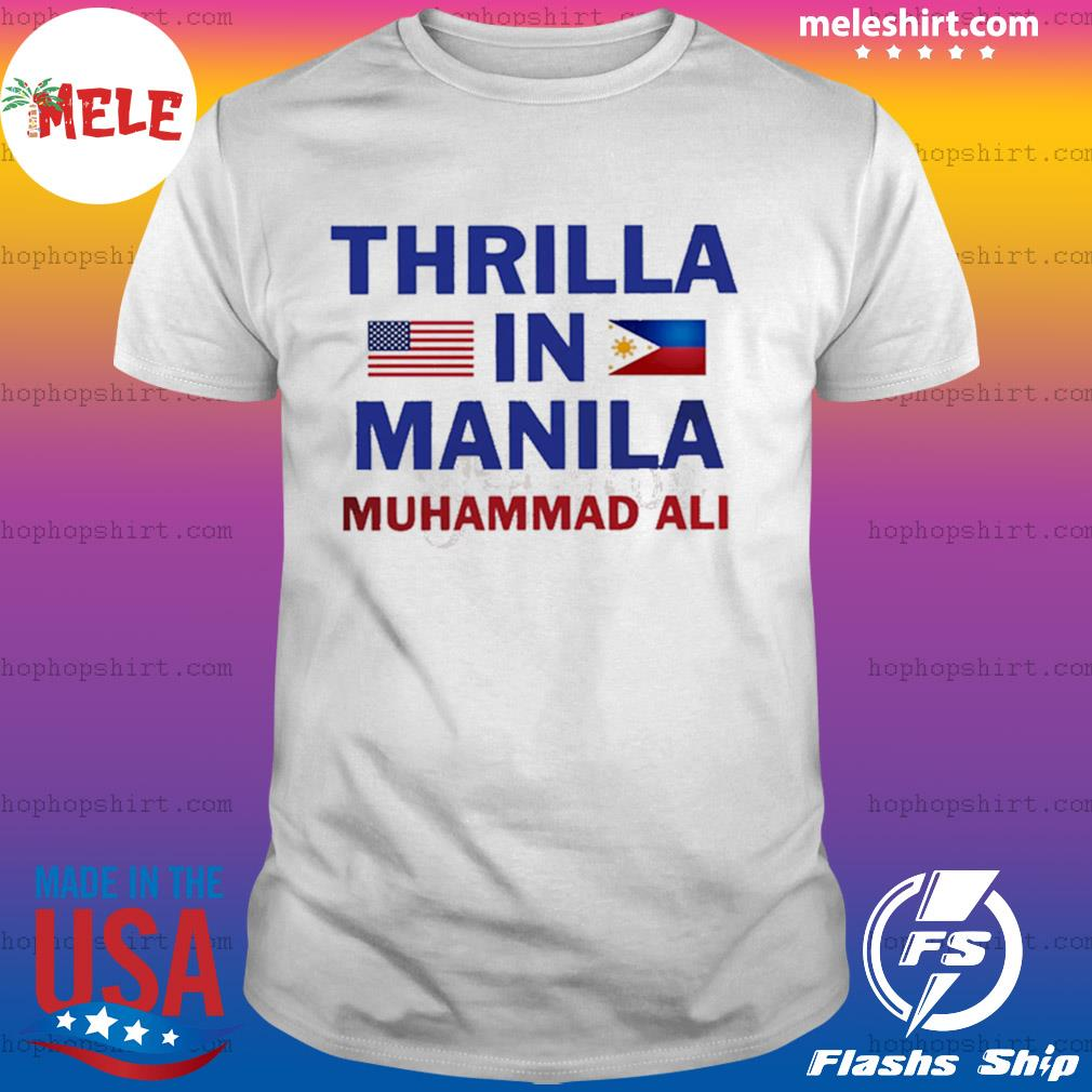 Thrilla in manila muhammad ali shirt