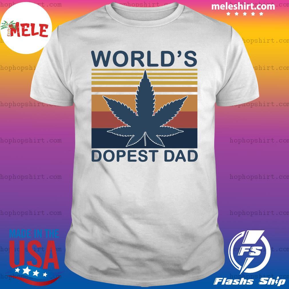 Weed World's Dopest Dad Vintage Shirt