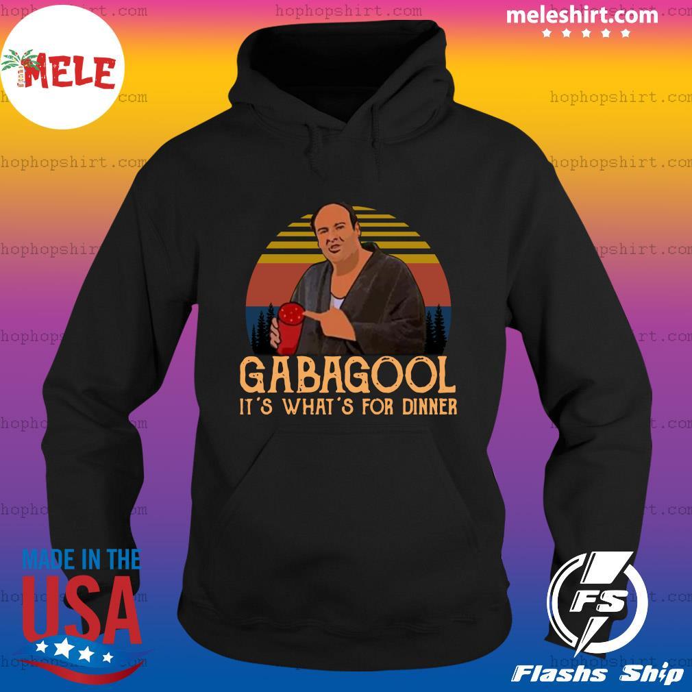 Gabagool It's What's For Dinner Vintage Retro Shirt Hoodie