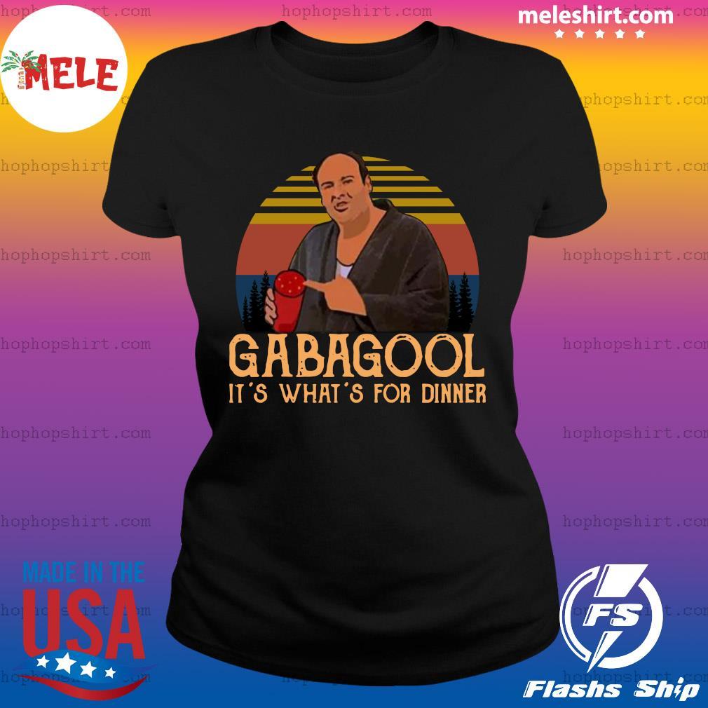 Gabagool It's What's For Dinner Vintage Retro Shirt Ladies Tee