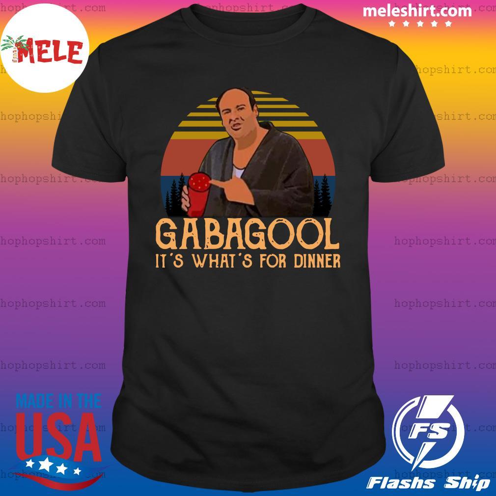 Gabagool It's What's For Dinner Vintage Retro Shirt