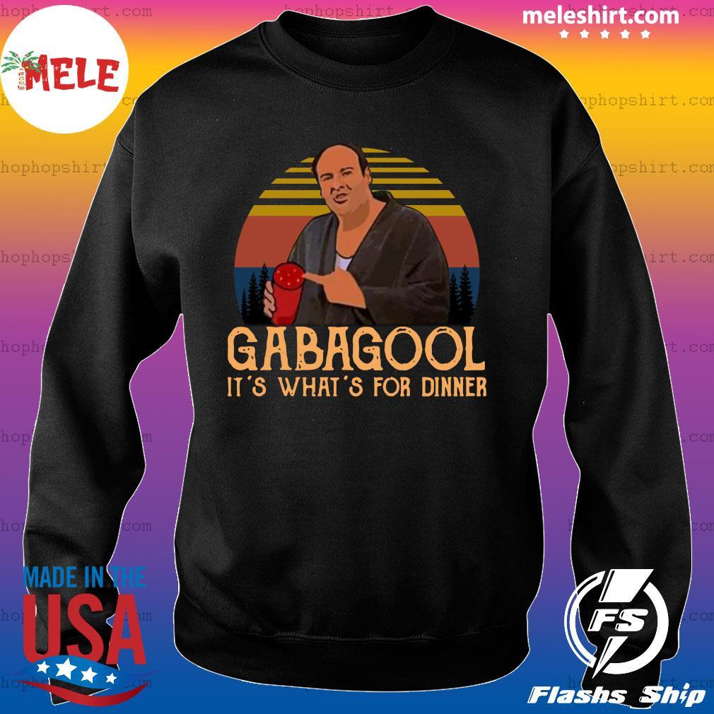 Gabagool It's What's For Dinner Vintage Retro Shirt Sweater