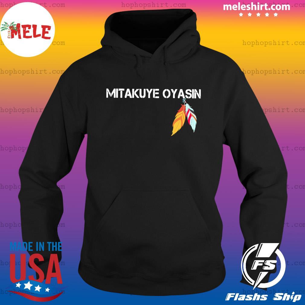 Native Mitakuye Oyasin Feather Shirt Hoodie