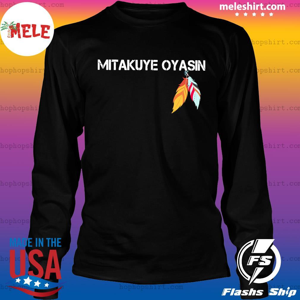 Native Mitakuye Oyasin Feather Shirt LongSleeve
