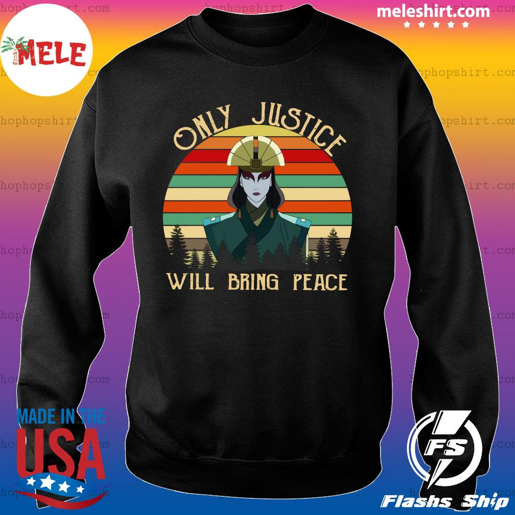 Only Justice Will Bring Peace Woman Vintage Retro Shirt Sweater
