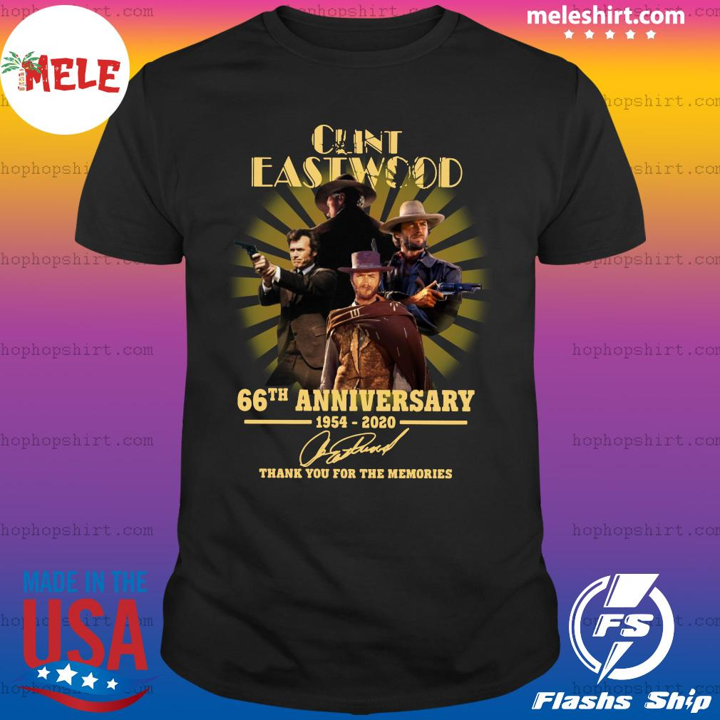 Cunt Eastwood 66th Anniversary Thank You For The Memories Signature Shirt