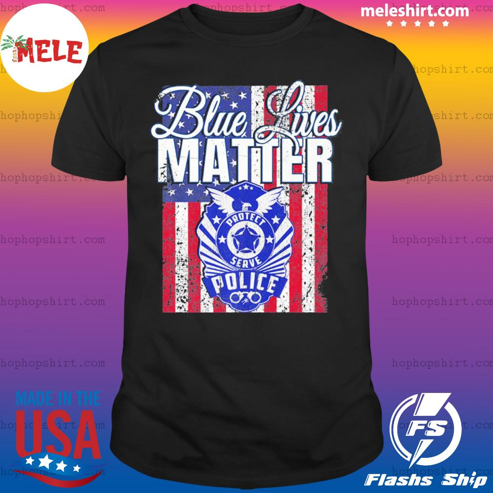 Blue Lives Matter Support Police Pro Trump 2020 Premium shirt