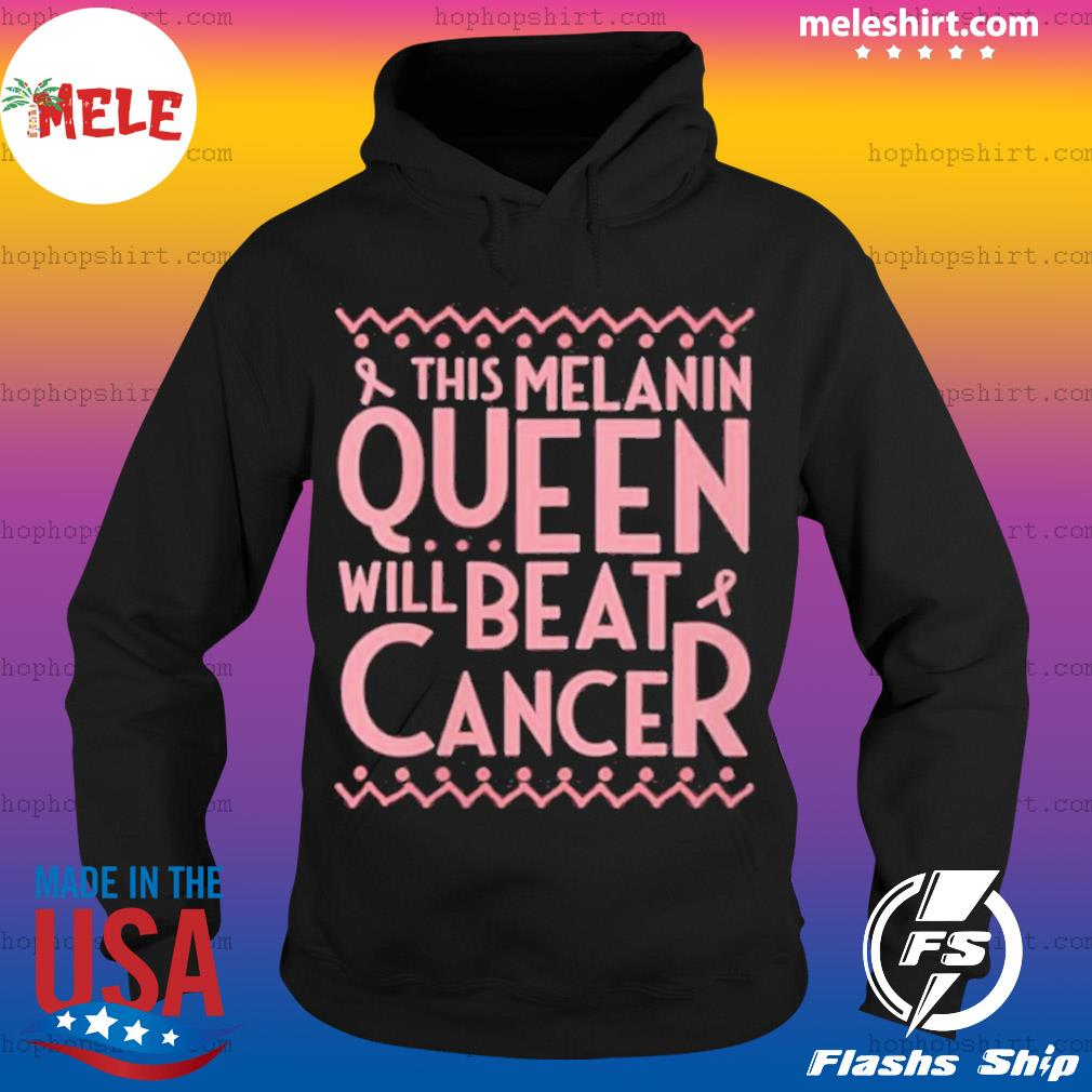 Black Queen African American Breast Cancer Awareness Quote s Hoodie
