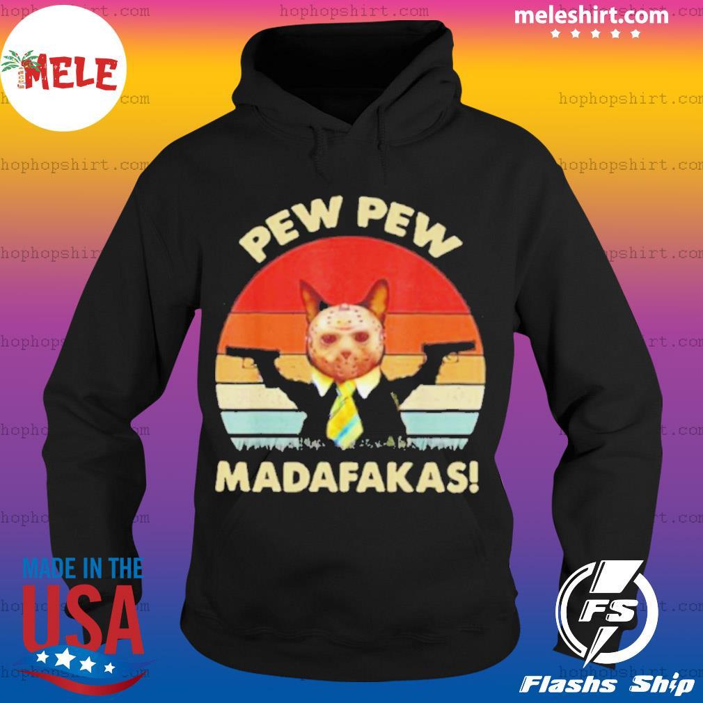 Cat Jason Voorhees Pew Pew Madafakas Vintage Retro s Hoodie