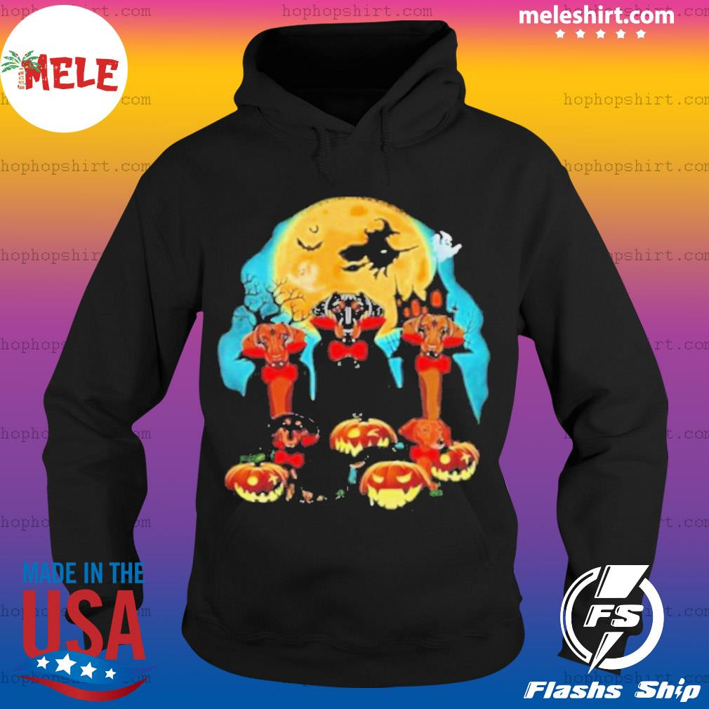 Dachshund Dracula Pumpkin Moonlight Happy Halloween s Hoodie