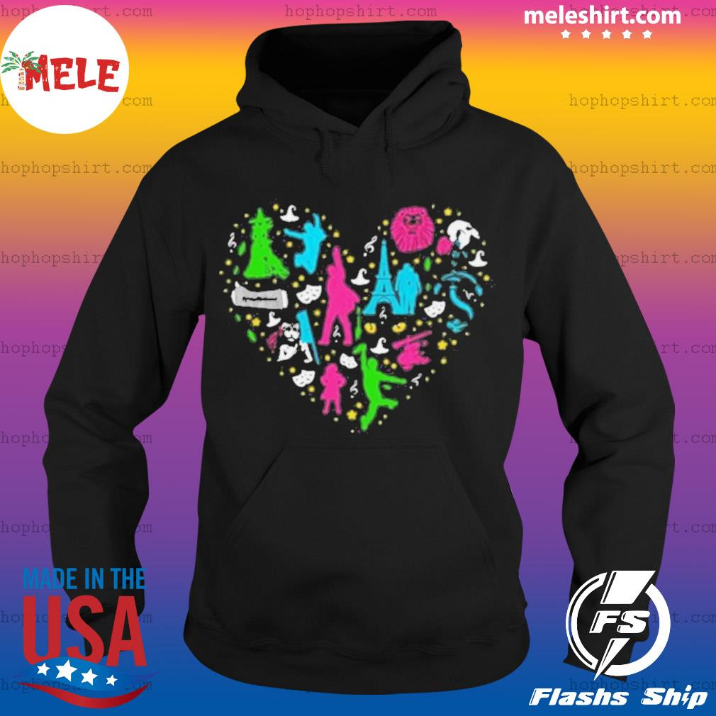 Heart Love Musicals Christmas s Hoodie
