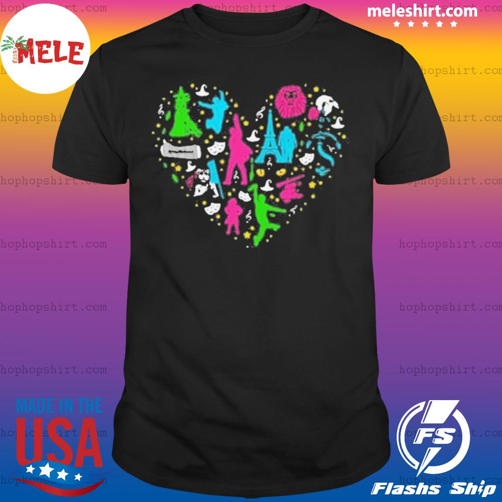 Heart Love Musicals Christmas shirt