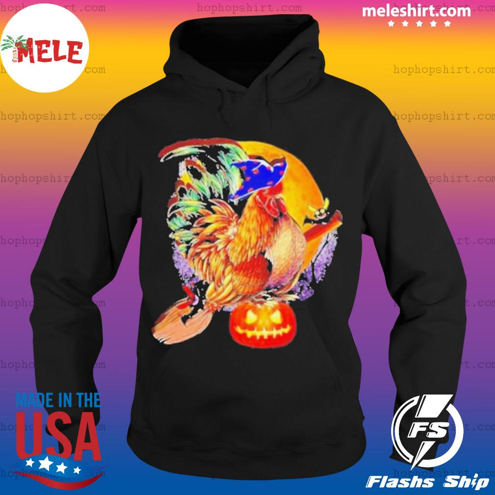 Nice Rooster Witch Happy Halloween s Hoodie