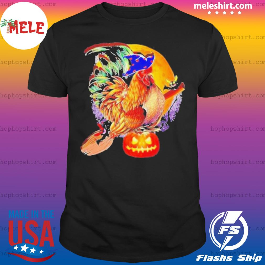 Nice Rooster Witch Happy Halloween shirt