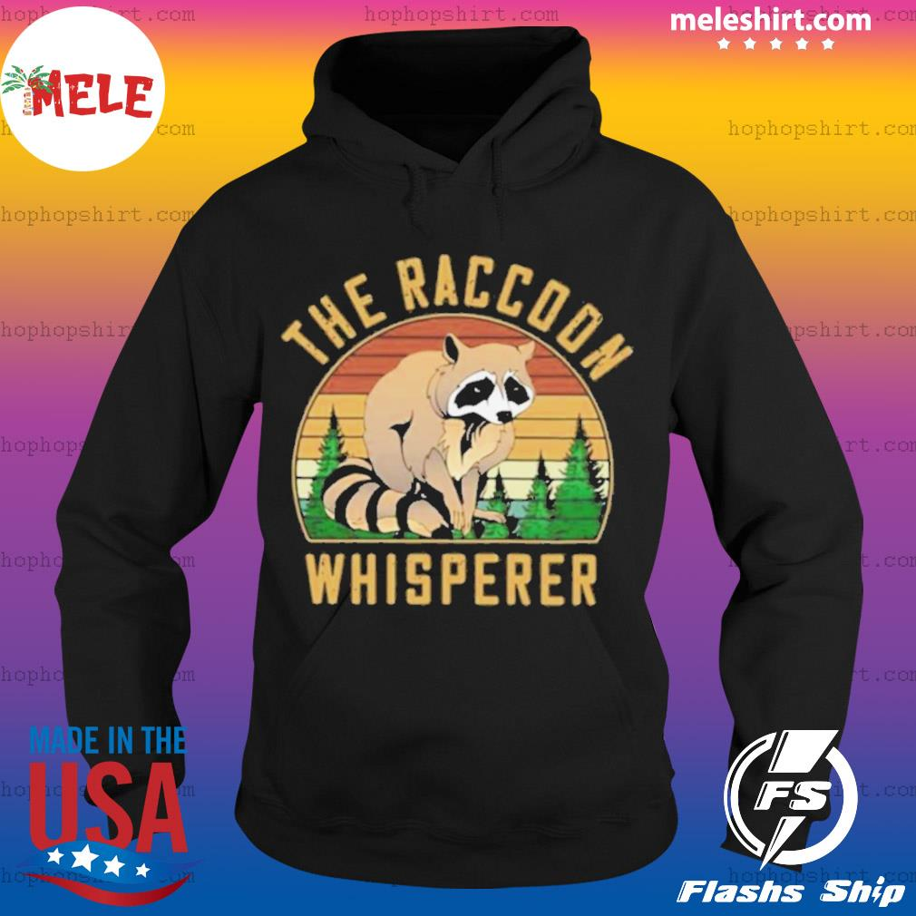 The Racoon Whisperer Vintage Retro s Hoodie