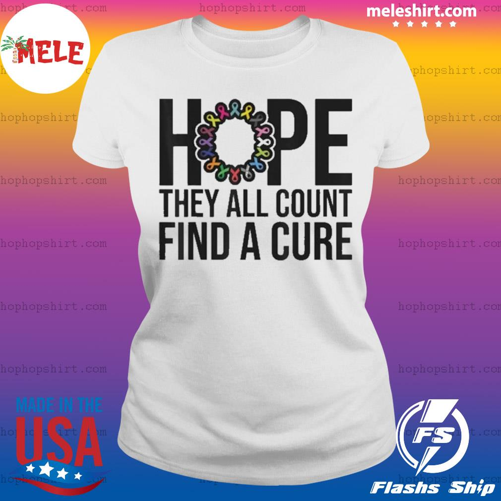 They all count Find a cure Cancer Awareness s Ladies Tee