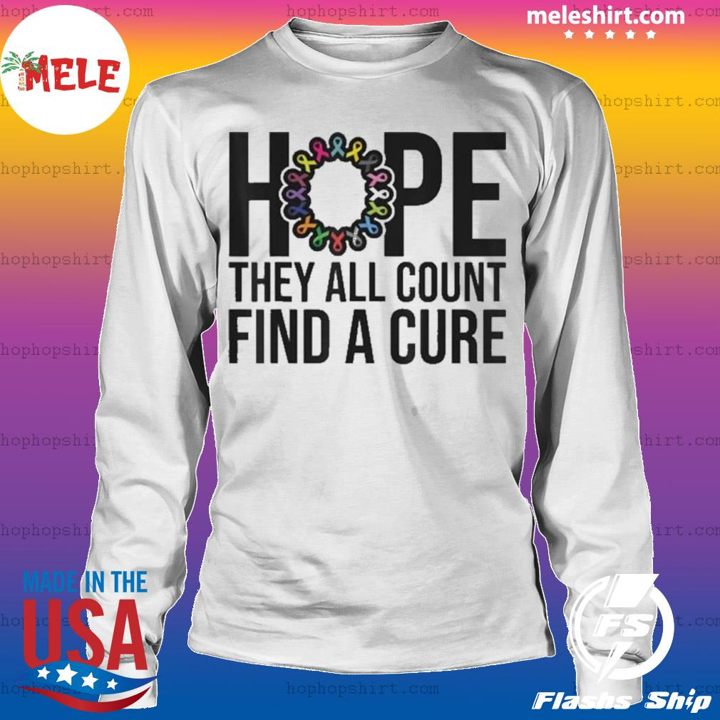They all count Find a cure Cancer Awareness s LongSleeve