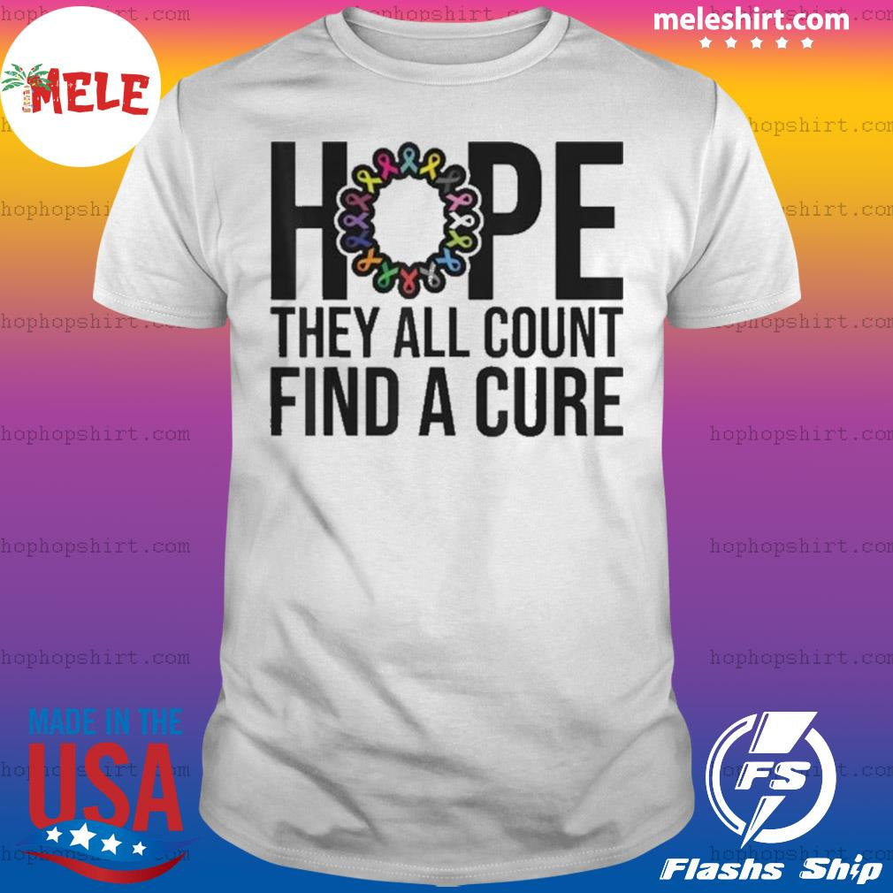 They all count Find a cure Cancer Awareness shirt