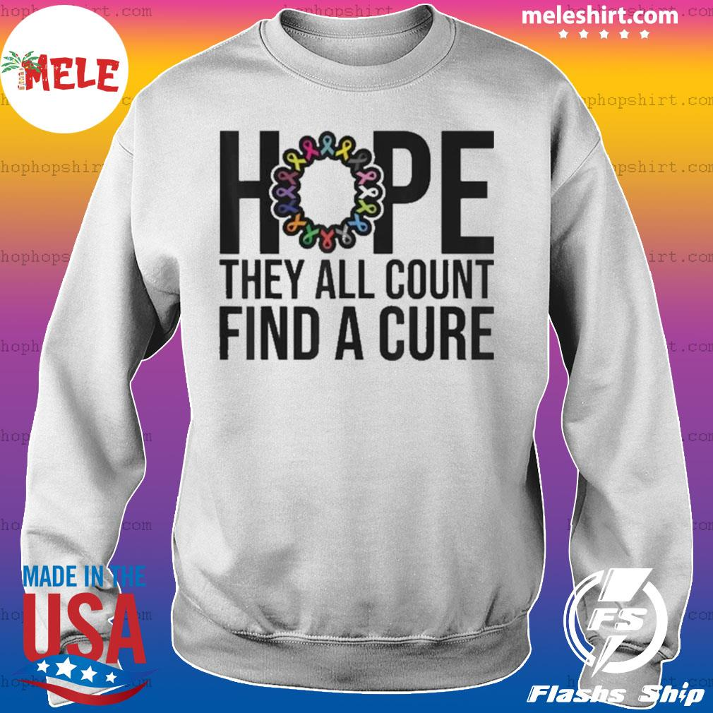 They all count Find a cure Cancer Awareness s Sweater