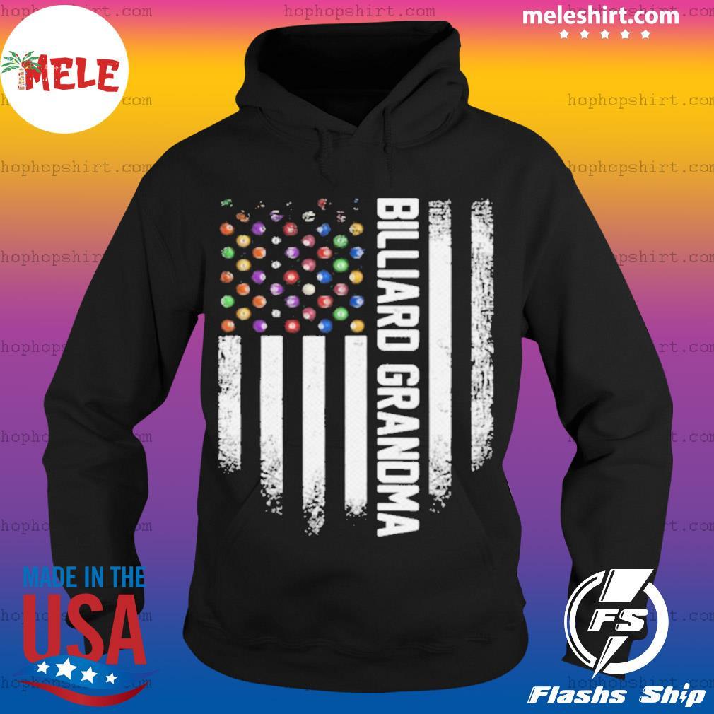 Vintage USA American Flag Pool Billiard Snooker Grandma s Hoodie