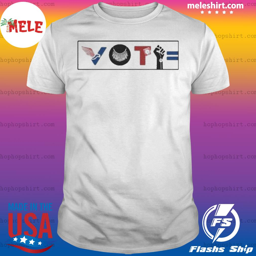 Vote For Liberty RBG Peace BLM Equality shirt