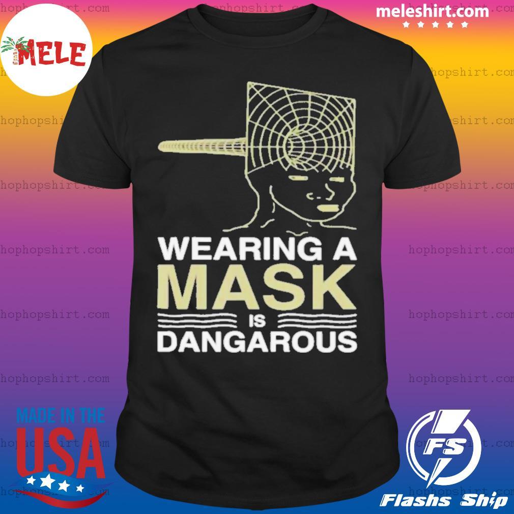 Wearing a mask meme trollface conspiracy theory shirt