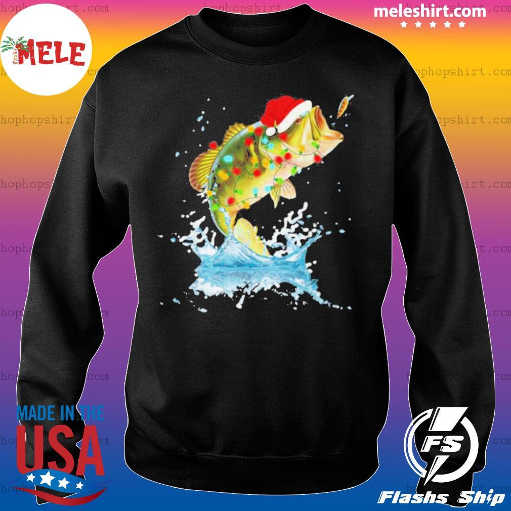 Bass Fishing Santa Hat Christmas Pajama Fishermen Fish Fishing Lover sweatshirt