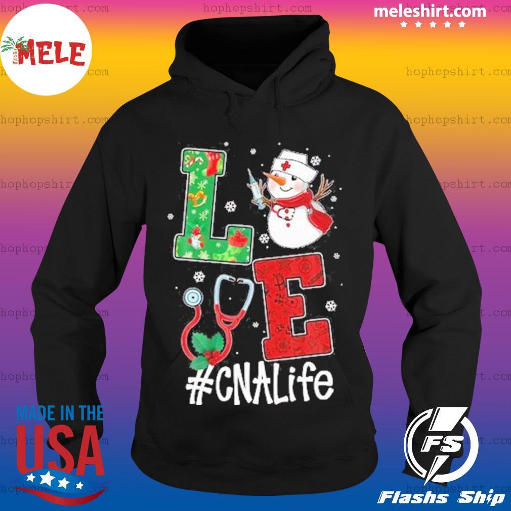 Christmas 2020 SweatShirt, Love CNALife Long Sleeve Snow Man Hoodie
