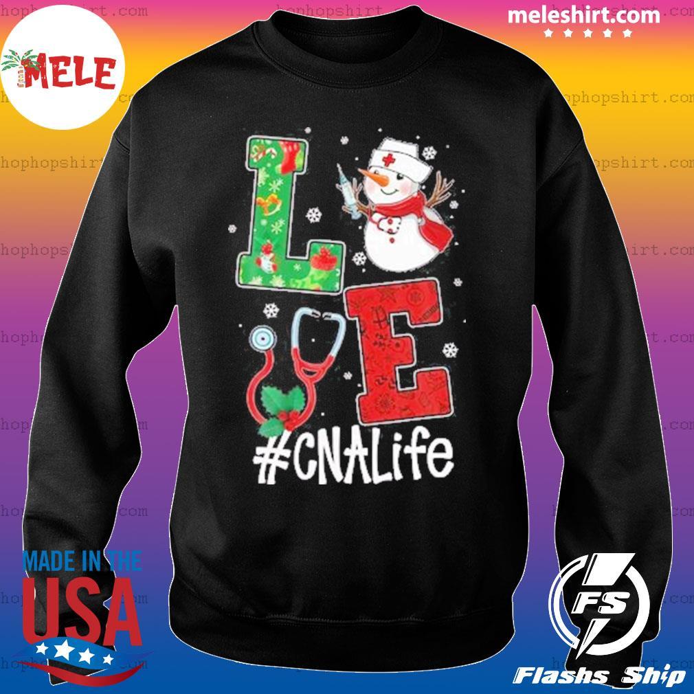Christmas 2020 SweatShirt, Love CNALife Long Sleeve Snow Man