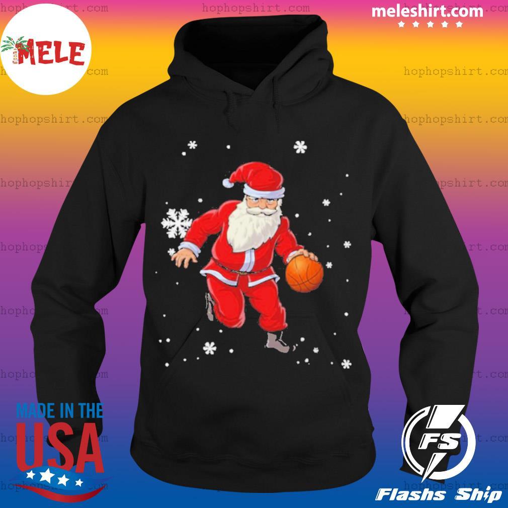 Christmas Basketball Pajamas Santa Claus Slam Dunk sweats Hoodie