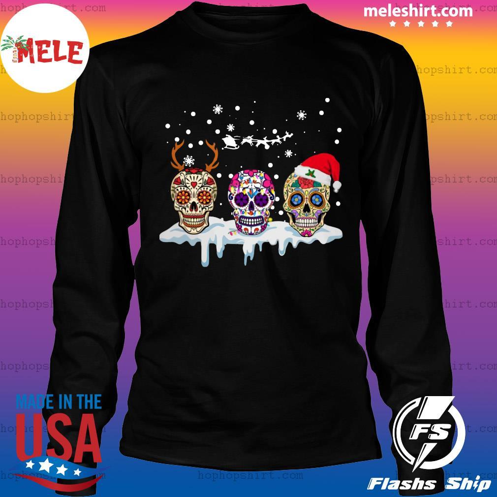 Sugar Skull Reindeer Santa Christmas Sweats LongSleeve
