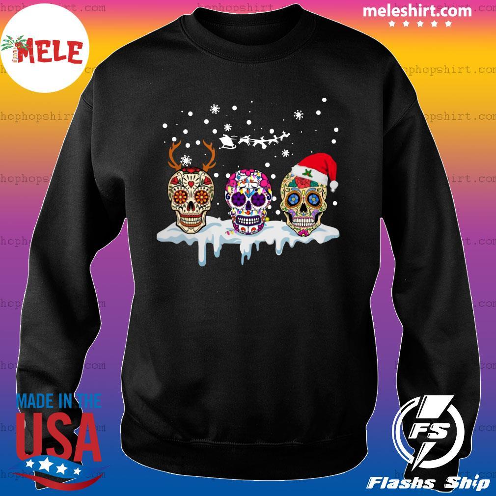 Sugar Skull Reindeer Santa Christmas Sweatshirt